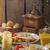 トマトソース · マスタード · ディナー · 肉 - ストックフォト © peteer