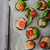 vegetal · mini · pizza · berinjela · queijo · manjericão - foto stock © Peteer