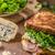fransız · tost · rokfor · salata · jambon · lezzetli - stok fotoğraf © Peteer