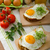 healthy dinner panini toast egg and vegetable stock photo © peteer
