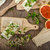 healthy breakfast crispbread with organic cream cheese stock photo © peteer