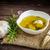 ekmek · zeytinyağı · tanıtım · zeytin · arka · plan - stok fotoğraf © peteer