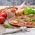 pizza · romero · patatas · queso · ajo · hierbas - foto stock © peteer