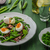 salata · domates · yumurta · yumurta · otlar · ahşap - stok fotoğraf © peteer