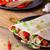 chicken tortilla with mushrooms garlic stock photo © peteer