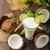 ひびの入った · ココナッツ · スプラッシュ · ビッグ · 食品 · 夏 - ストックフォト © peteer