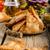 eigengemaakt · nachos · rustiek · hamburger · amerikaanse · spek - stockfoto © Peteer