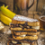 French toast filled banana and chocolate stock photo © Peteer