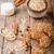 koffie · cookies · biscuits · eigengemaakt · vintage · hout - stockfoto © peteer