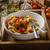 tészta · koktélparadicsom · pesztó · chilli · gyógynövények · asztal - stock fotó © Peteer
