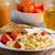 Панини · завтрак · плодов · чай · белый · пластин - Сток-фото © peteer