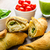 Mini Calzone roll with herbs and cheese stock photo © Peteer