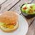 домашний · бекон · Burger · салата · чеддер · картофеля - Сток-фото © peteer