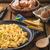 uova · strapazzate · erbe · pomodori · sfondo · tavola - foto d'archivio © peteer