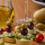 delicious blue cheese with olives grapes and salad stock photo © peteer