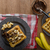Waffles with bananas, nuts and chocolate stock photo © Peteer