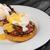卵 · ぱりぱり · ベーコン · ソース · 焼いた · クリーン - ストックフォト © Peteer
