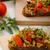 a · la · parrilla · hortalizas · mozzarella · queso · tomates · cherry · pimienta - foto stock © peteer