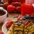 Ягоды · клубники · шоколадом · Top · мята · кофе - Сток-фото © peteer