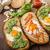 vatiations of fried eggs inside bread stock photo © peteer