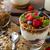 framboesa · colher · iogurte · sobremesa · branco - foto stock © peteer