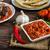 pita · brood · gevuld · chili · vlees · saus - stockfoto © peteer