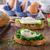 パン · ほうれん草 · 素朴な · 卵 · ニンニク - ストックフォト © Peteer