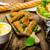casero · frito · pan · desayuno · comer · blanco - foto stock © peteer