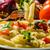 kepçe · sebze · makarna · organik · ıspanak · kırmızı - stok fotoğraf © peteer