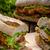 ternera · filete · bollo · hierba · mayonesa · tomate - foto stock © peteer