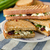 sandwich · schimmelkaas · gebakken · panini · grill - stockfoto © Peteer