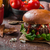 Beef burger with blue cheese stock photo © Peteer