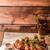 ızgara · tavuk · kanatlar · bira · ev · yapımı · taze · arkasında - stok fotoğraf © Peteer