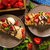 delicioso · banana · caramelo · crepe · bolo · estoque - foto stock © peteer