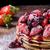 palacsinták · eprek · tej · méz · öreg · fa · asztal - stock fotó © peteer