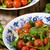 ensalada · tomates · cherry · albahaca · pesto · chícharos · hierbas - foto stock © Peteer