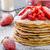 amerikai · palacsinták · eprek · gyümölcs · forró · desszert - stock fotó © Peteer