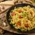 semolina pasta with roasted garlic sprinkled microherbs stock photo © peteer