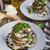 tomaat · mozzarella · aubergine · basilicum · pizza · voedsel - stockfoto © peteer