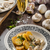 mushroom sauce with roasted potatoes stock photo © peteer