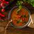 çanak · çorba · soya · peyniri · peynir · kaşık · tablo - stok fotoğraf © peteer