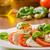 caprese · salatası · lezzetli · İtalyan · salata · fesleğen · domates - stok fotoğraf © Peteer