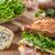 bruschetta · kaas · tomaten · prosciutto · voedsel - stockfoto © peteer