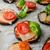 vegetariano · mini · pizza · tomates · cereja · páprica · azeitonas - foto stock © peteer