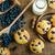 ブルーベリー · 乳房 · 背景 · 表 · 青 · パン - ストックフォト © peteer