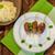 nyárs · marhahús · mangó · étel · vacsora · saláta - stock fotó © peteer