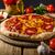 rustik · salam · pizza · çedar · peynir · chorizo - stok fotoğraf © Peteer