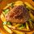 bárány · kotlett · saláta · bor · hús · paradicsom - stock fotó © peteer