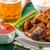 pollo · ali · peperoncino · salsa · foglia · verde - foto d'archivio © peteer