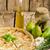 recheado · cogumelos · ovos · ervas · comida - foto stock © peteer